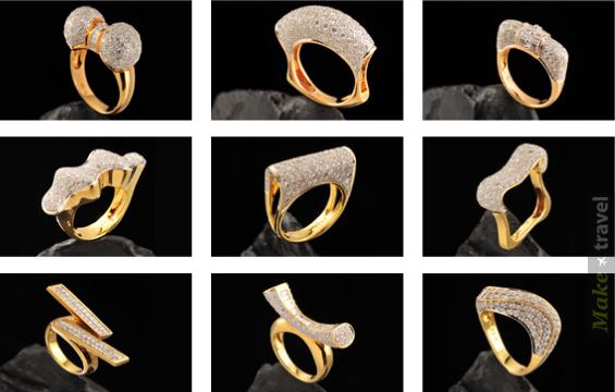 Золотые кольца с бриллиантами